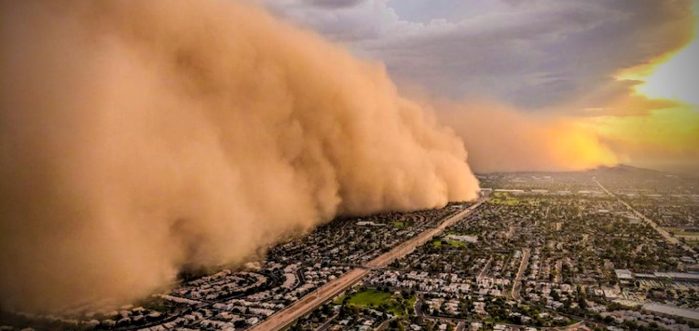 Monsoon dust